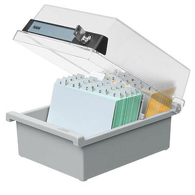 Boite avec serrure pour ranger des documents de taille a6 avec intercalaire - Boite de rangement avec intercalaires ...