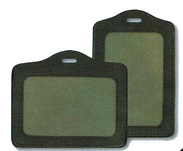 PORTEBADGE CUIR HORIZONTAL GER Facilities - Porte badge cuir