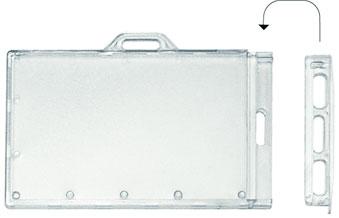 PORTE BADGE A GLISSIERE AVEC SYSTEME DE FERMETURE AMOVIBLE GER - Porte badge rigide